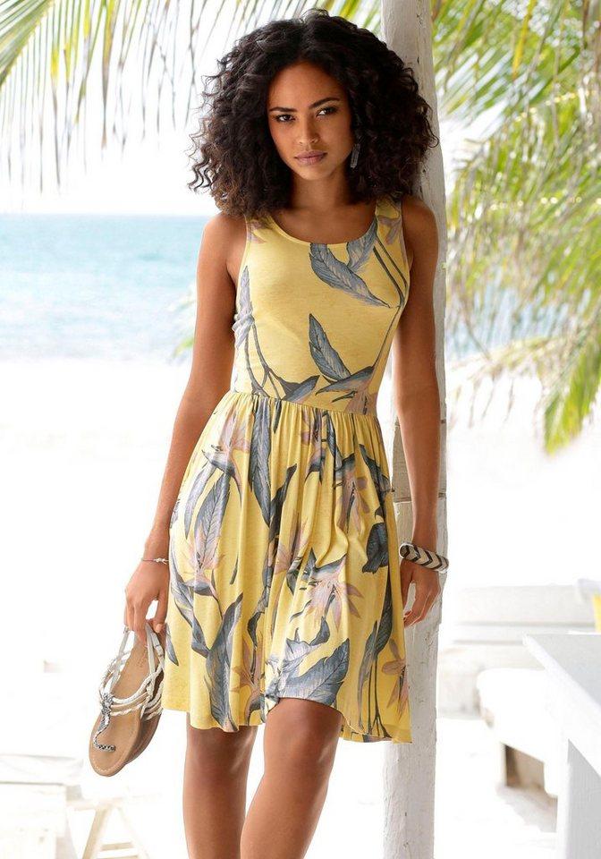 beachtime-strandkleid-mit-gerafftem-rockteil-gelb-blau -bedruckt.jpg  formatz  2121a83ab3