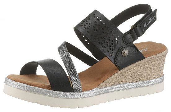 Mit Sandalette Lasercuts Mustang Shoes Sommerlichen Eaw4nYq