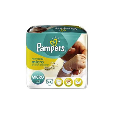 Pampers 1x24 Stück Premium Protection New Baby Micro Gr.0 2-5kg Tra