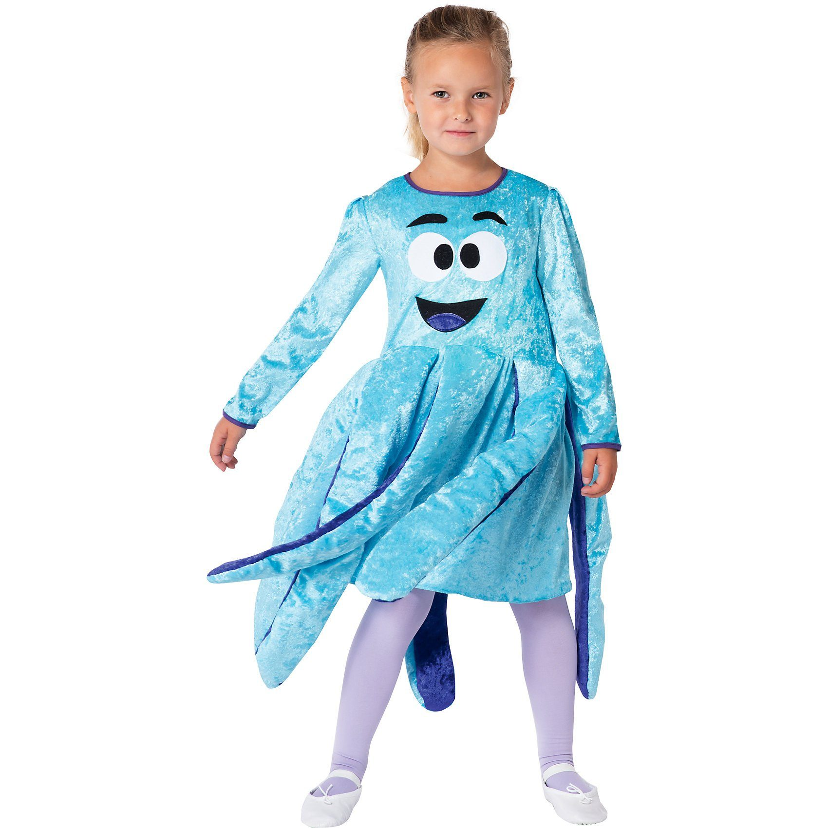 Unisex Kostüm Oktopuskleid türkis/lila grün | 04260028383165