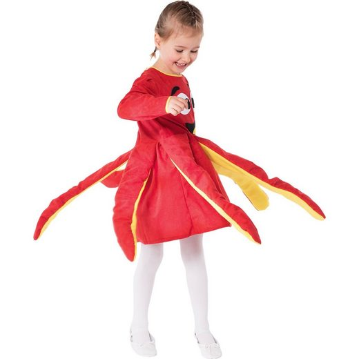 Kostüm Oktopuskleid, rot