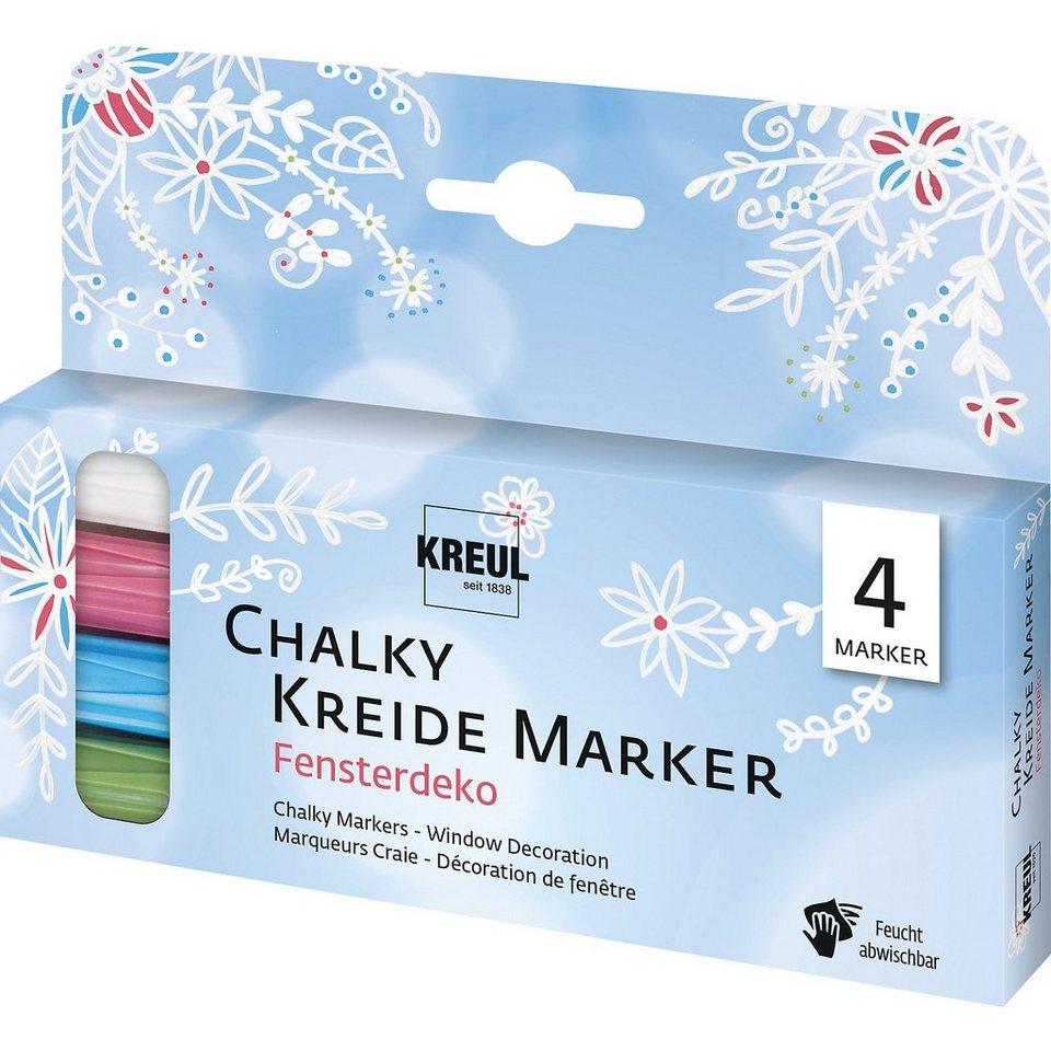 C. KREUL Chalky Kreidemarker 4er Set Fensterdeko