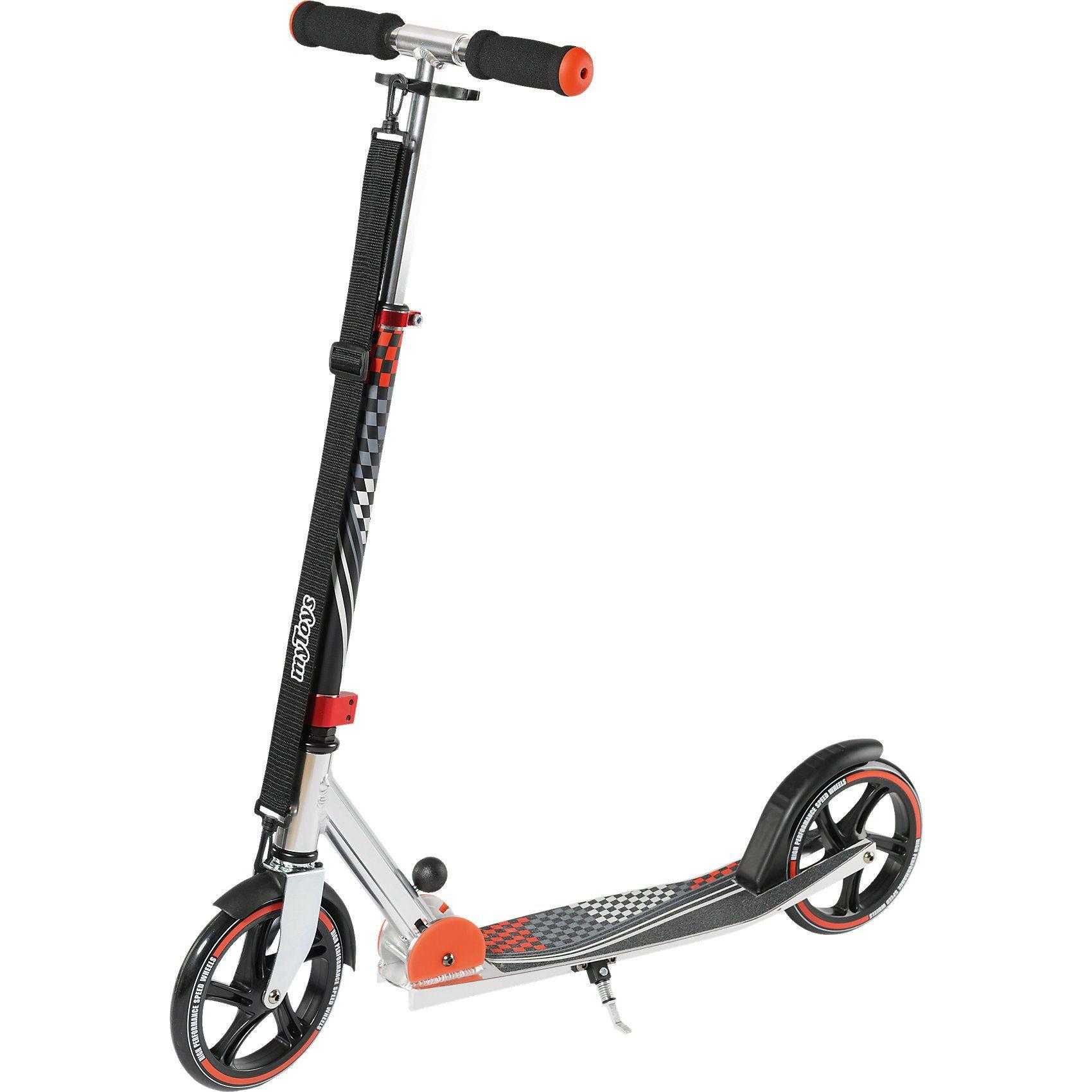 myToys Scooter 205 mit Tragegurt, Design Racing