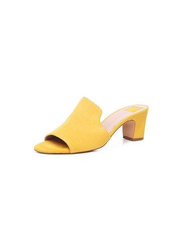 Damen SHOEPASSION No. 17 WP Pantolette Von Hand gefertigt in Frankreich gelb | 04251194718530