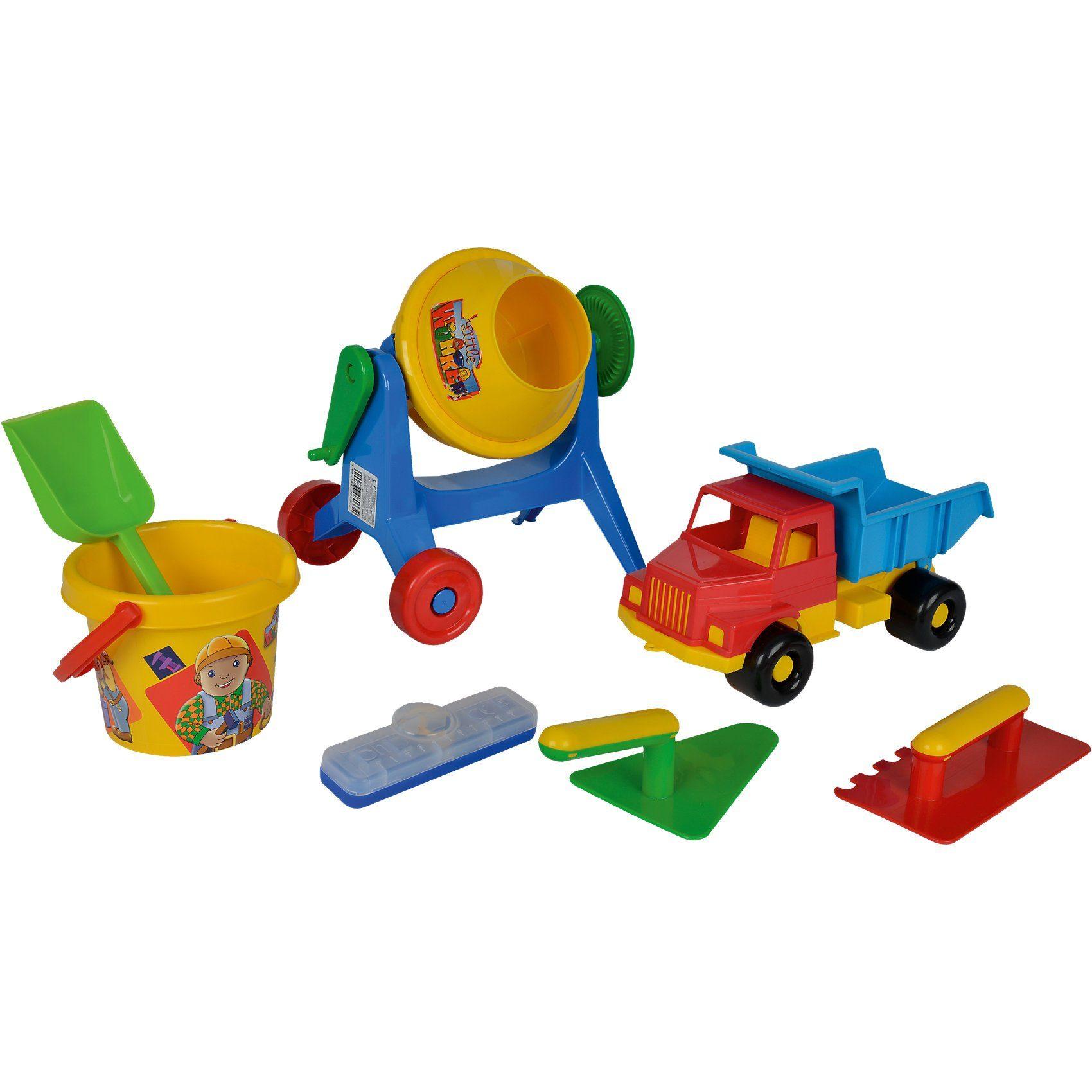 SIMBA Sandspielzeugset mit Auto, Mischmaschine und Zubehör