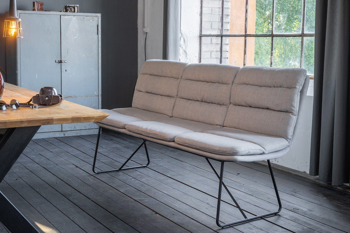 Kasper-Wohndesign Esszimmer-Bank Stoff hellgrau »Vince«