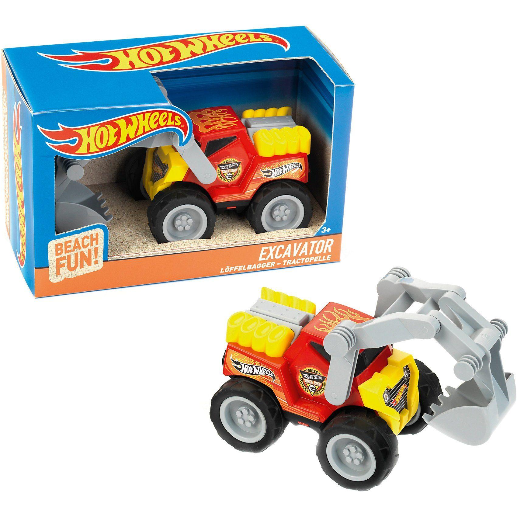 Klein Hot Wheels Löffelbagger, Sandspielzeug, Maßstab 1:24