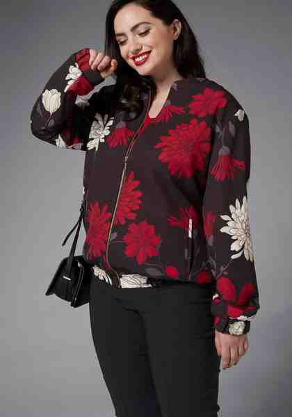 GMK Curvy Collection Blousonjacke mit Gummizug am Bund
