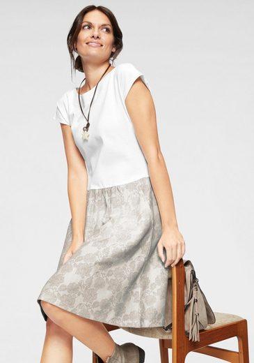 Boysen's Sweatkleid mit bedrucktem Rockteil & Seitentaschen