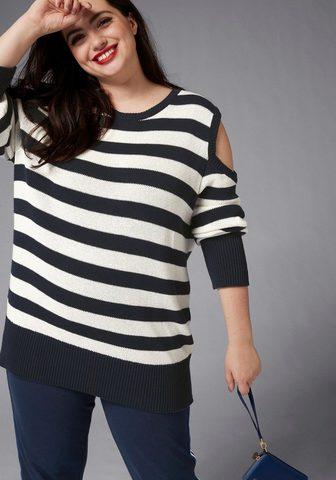 GMK CURVY COLLECTION Пуловер в полоску