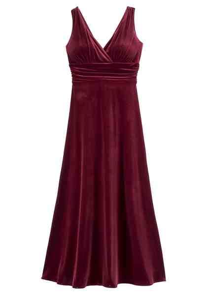 GUIDO MARIA KRETSCHMER Abendkleid mit tief überschnittenen V-Ausschnitt