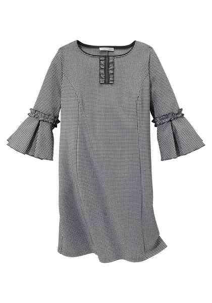 GMK Curvy Collection Blusenkleid mit verspielten Rüschendetails