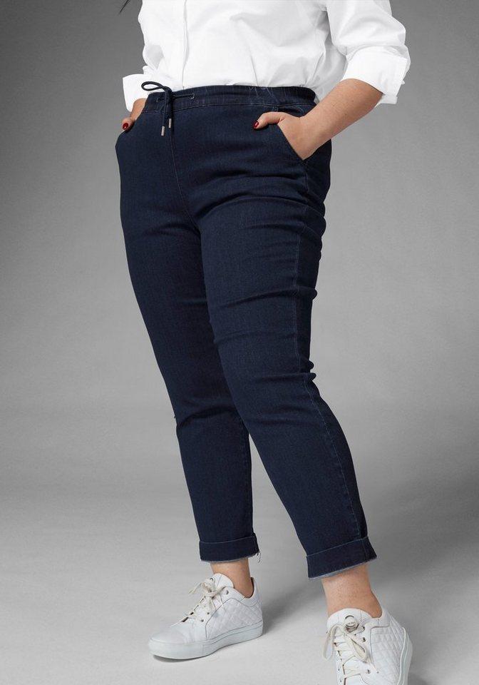 GMK Curvy Collection Bequeme Jeans mit praktischem Kordelzug