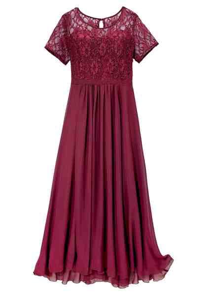 GMK Curvy Collection Abendkleid mit eleganter Spitze