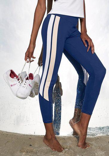 LASCANA 7/8-Leggings »Colour Blocking« mit Seitenstreifen