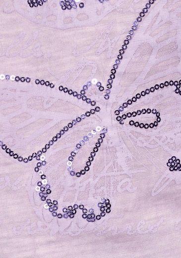 Boysen's Pailletten amp; Mit Schmetterlings Tunikashirt print 0XB0w8r