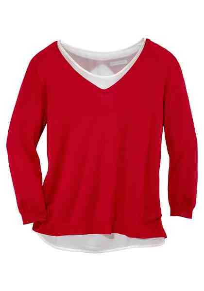 GMK Curvy Collection 2-in-1-Pullover Two-in-one-Look
