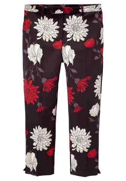 GMK Curvy Collection 7/8-Hose mit floralem Allover-Print