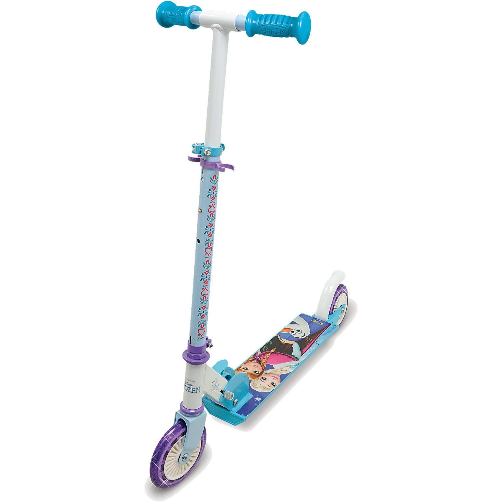 Smoby Die Eiskönigin Scooter mit Bremse, klappbar