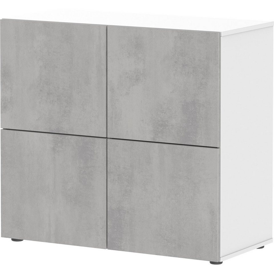 wellem bel kommode concrete wei beton kaufen otto. Black Bedroom Furniture Sets. Home Design Ideas