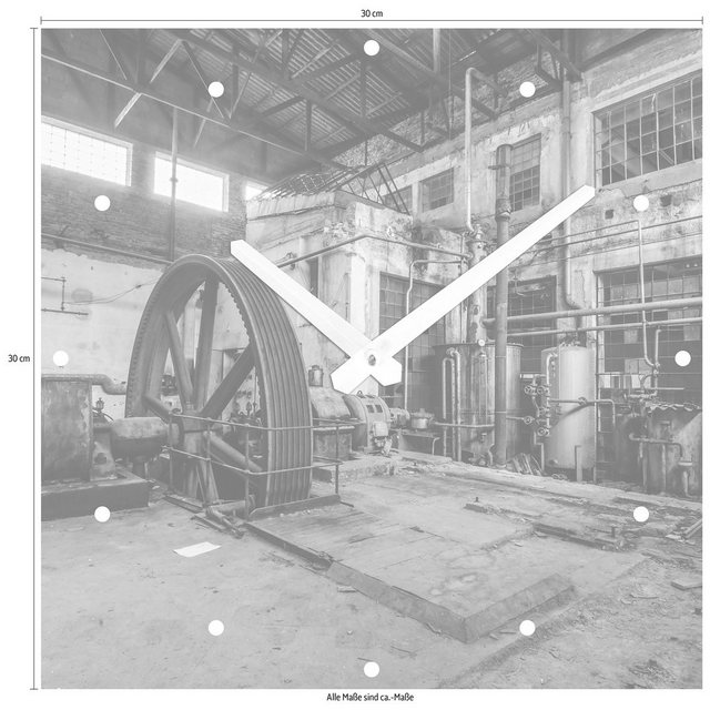 Wanduhr »Fabrik« 30/30 cm | Dekoration > Uhren > Wanduhren | Braun | OTTO