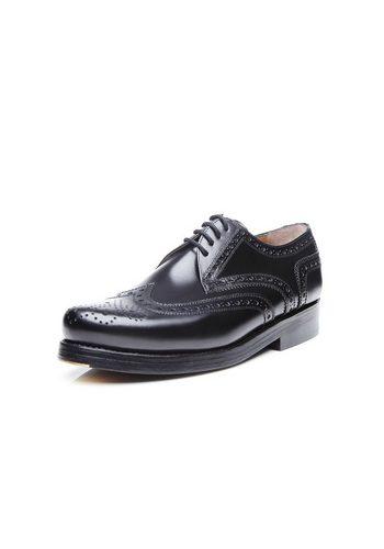 Herren Heinrich Dinkelacker Rio Full-Brogue BC Schnürschuh Wahre Schuhmacherkunst aus Budapest schwarz | 04251386600957