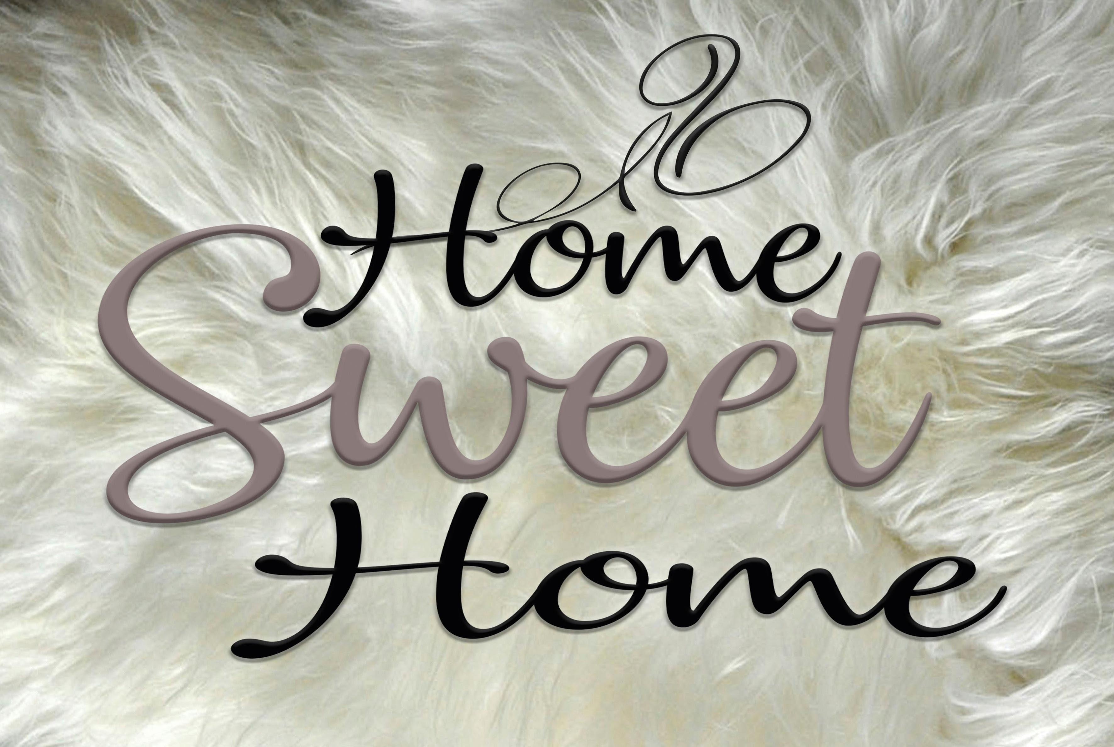 Deco Panel »Sweet Home« 30/20 cm