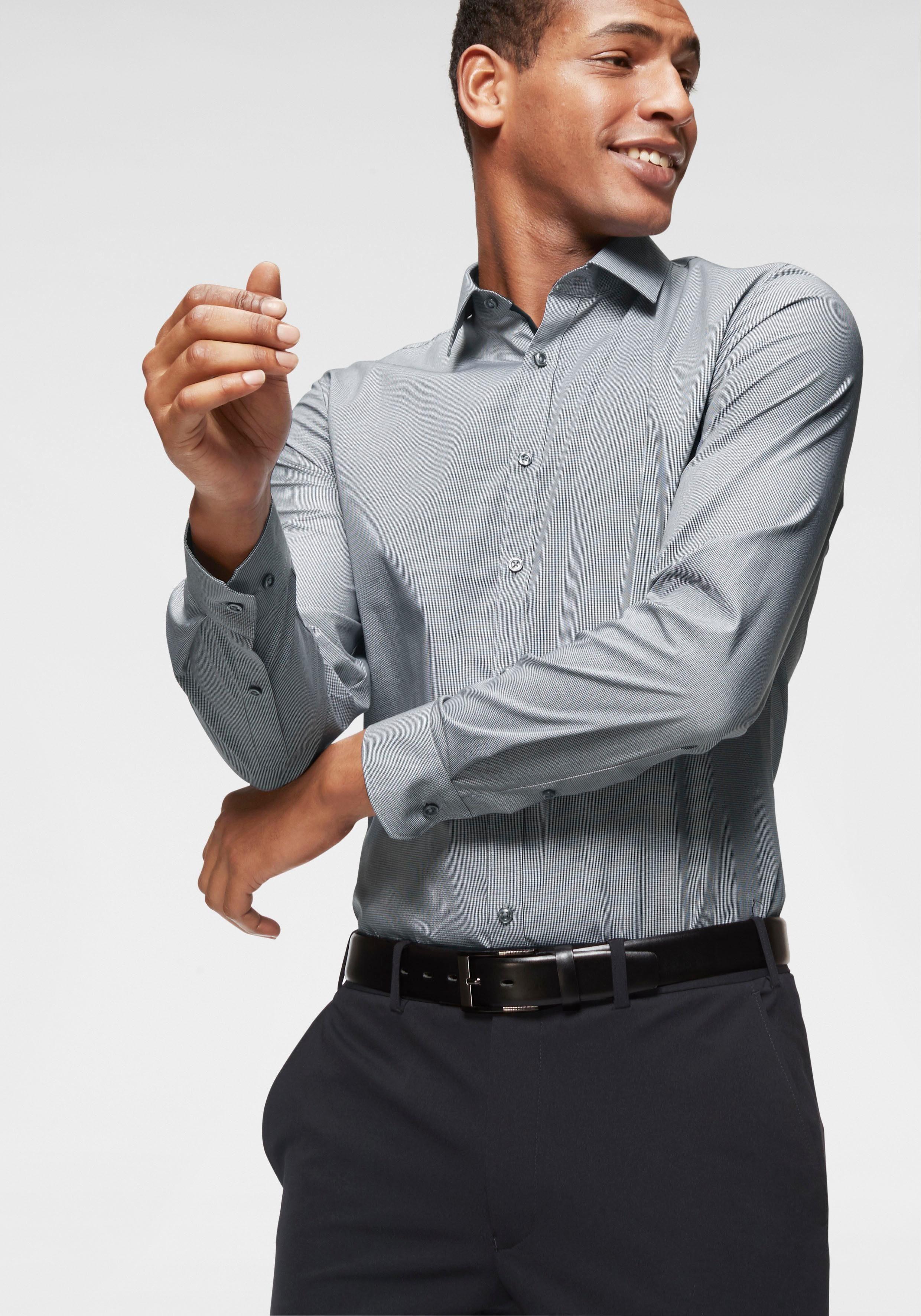Bruno Banani Businesshemd »Skinny -fit« gemustert, bügelfrei