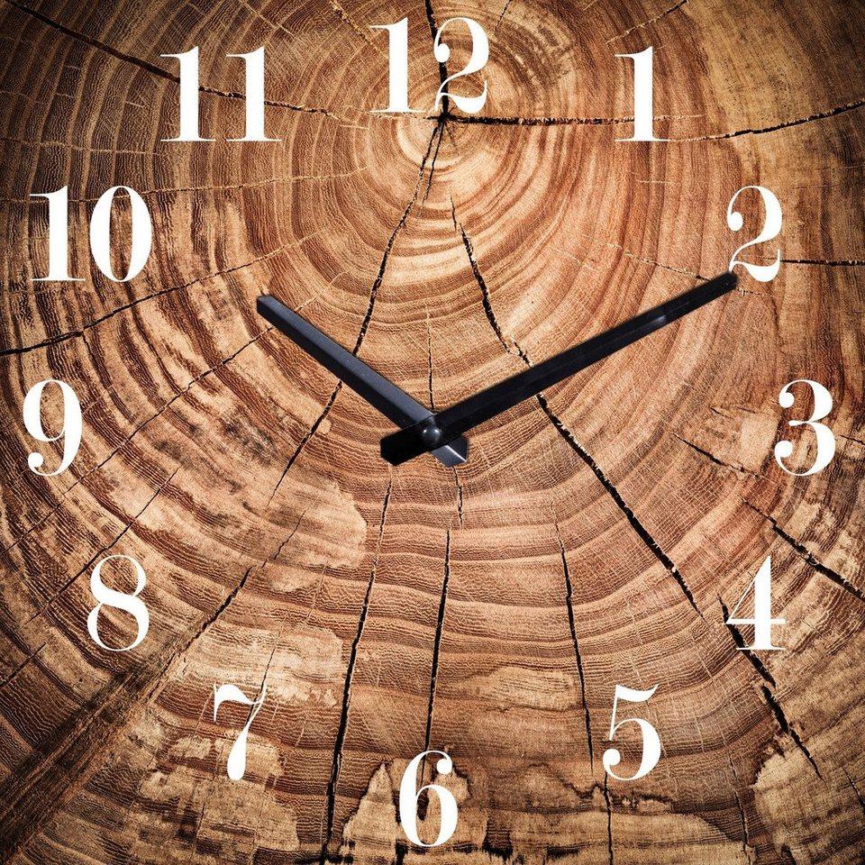 Außergewöhnlich Wanduhr »Baumstamm« 30/30 cm, Dekorative Uhr online kaufen   OTTO &KD_21