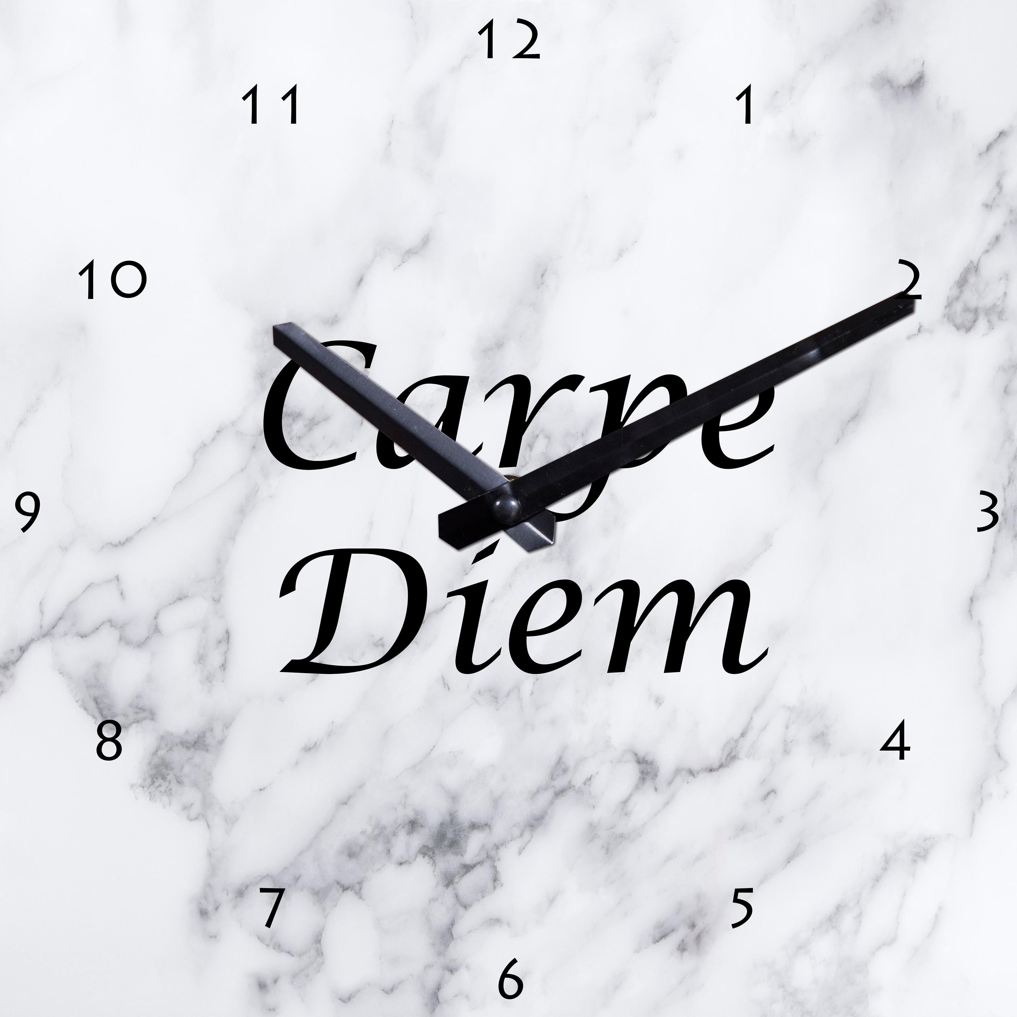 Wanduhr »Carpe Diem« 25/25 cm