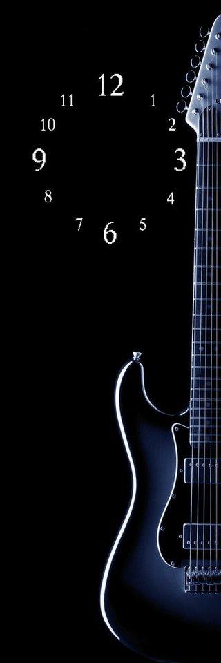 wanduhr gitarre 20 60 cm dekorative uhr online kaufen. Black Bedroom Furniture Sets. Home Design Ideas