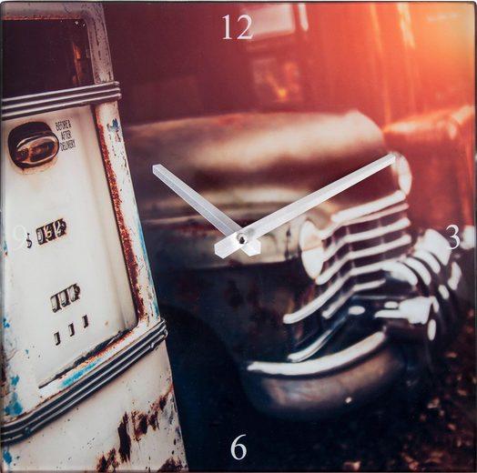 Wanduhr »Tankstelle«