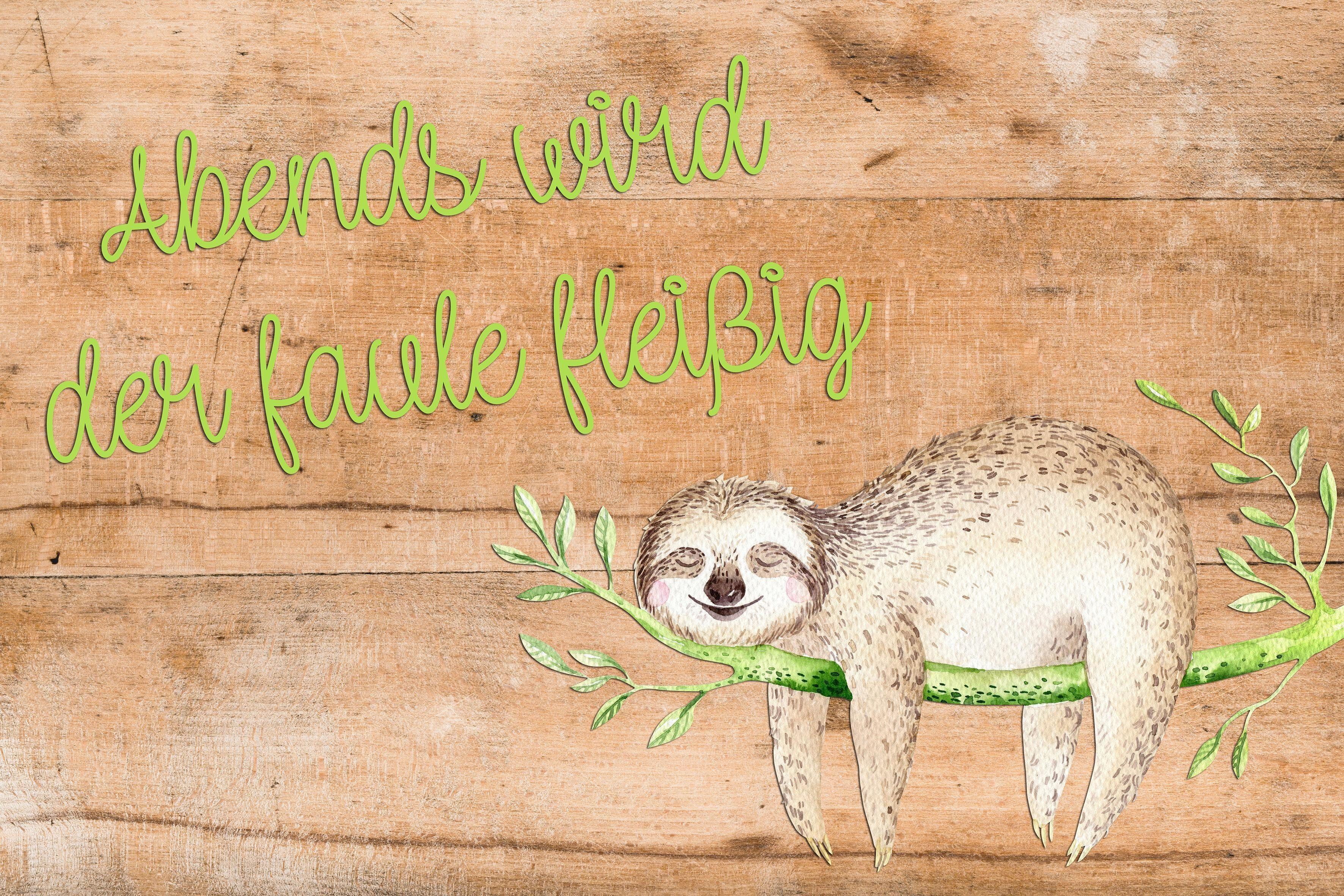 Deco Panel »Sloth« 20/30 cm