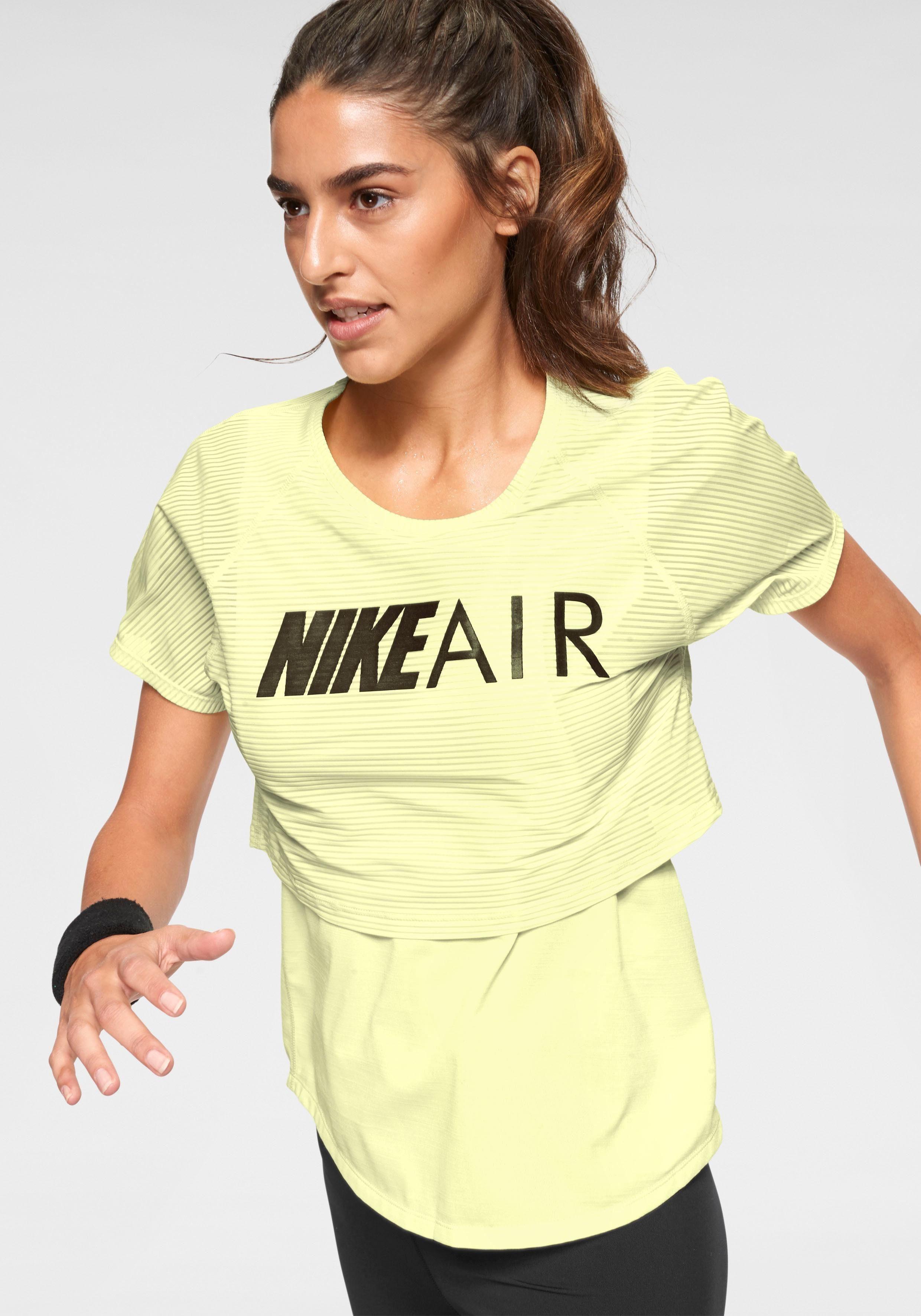 Nike Laufshirt »WOMEN NIKE AIR TOP SHORTSLEEVE GX« | OTTO