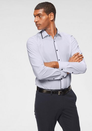 Bruno Banani Businesshemd »Slim-fit« Kontrastbesatz, bügelfrei