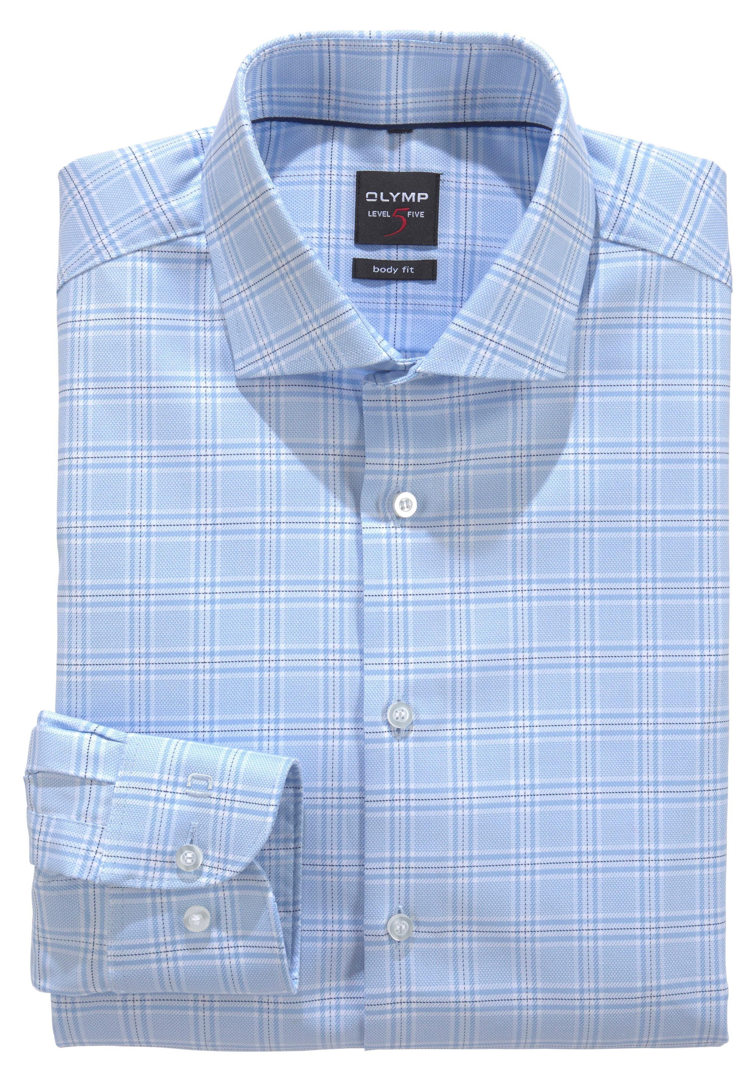 OLYMP Businesshemd »Level Five body fit«, Baumwollmischung mit Elastolefin online kaufen   OTTO