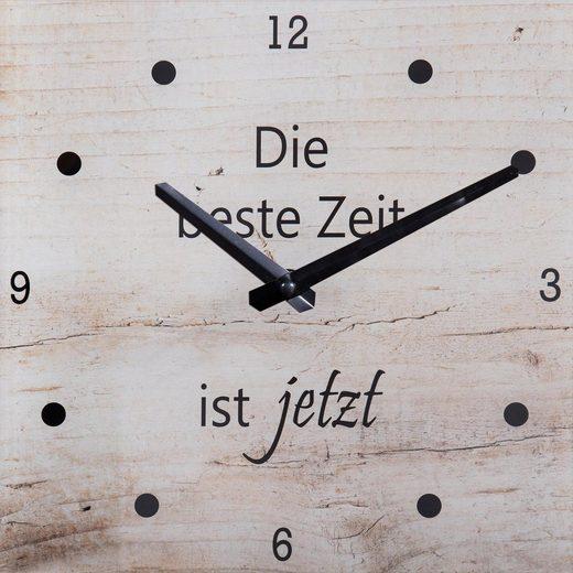 Wanduhr »Beste Zeit« 25/25 cm