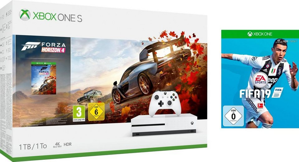 xbox one s 1tb bundle inkl forza horizon 4 fifa 19. Black Bedroom Furniture Sets. Home Design Ideas