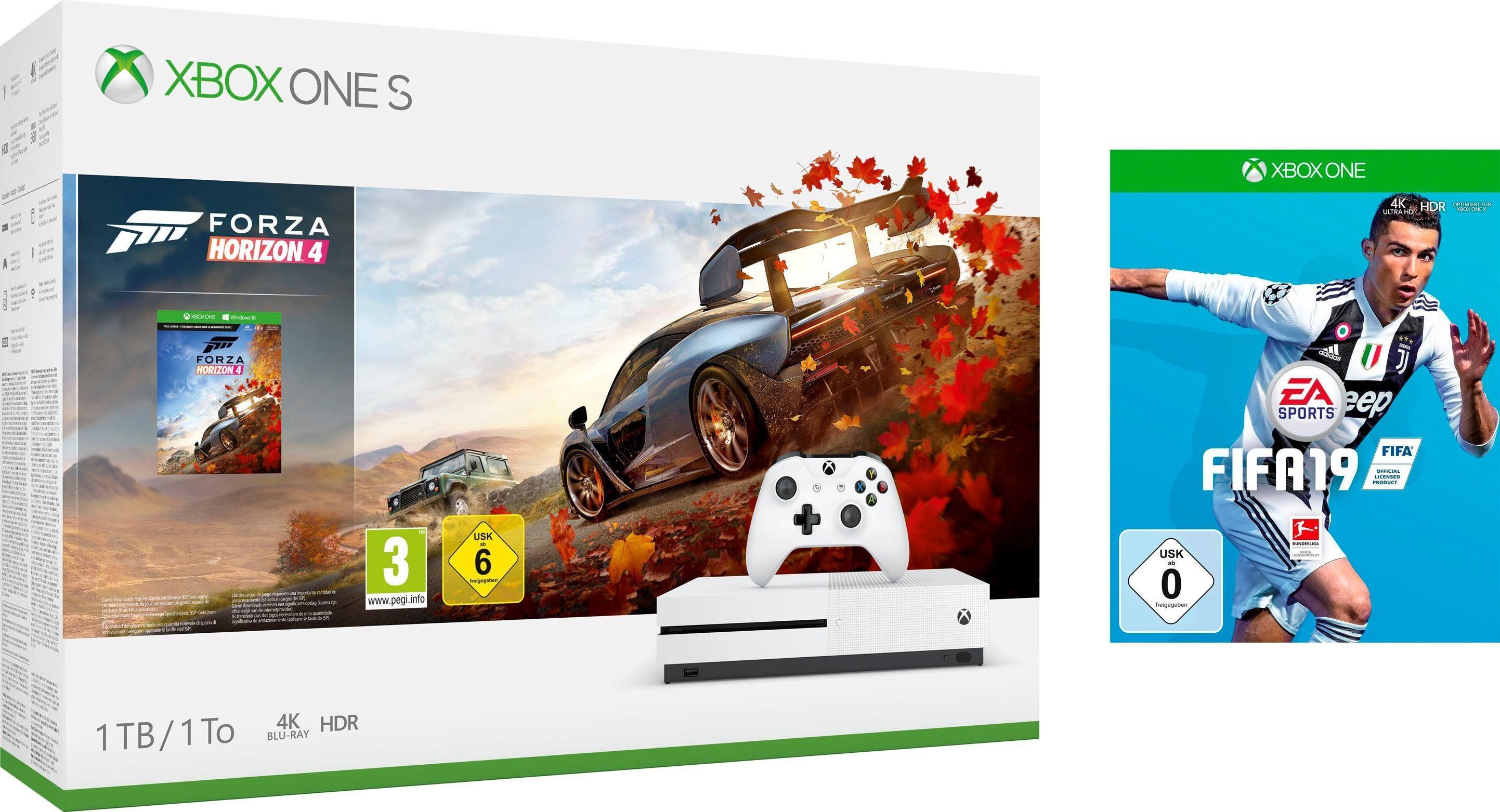 Xbox One S 1TB (Bundle, inkl. Forza Horizon 4 + FIFA 19)