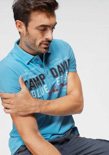 CAMP DAVID Poloshirt mit Frontprint
