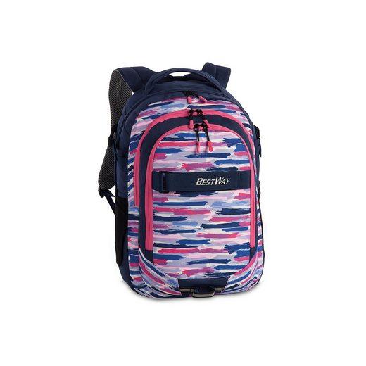 fabrizio® Schulrucksack Evolution Air pink/blau