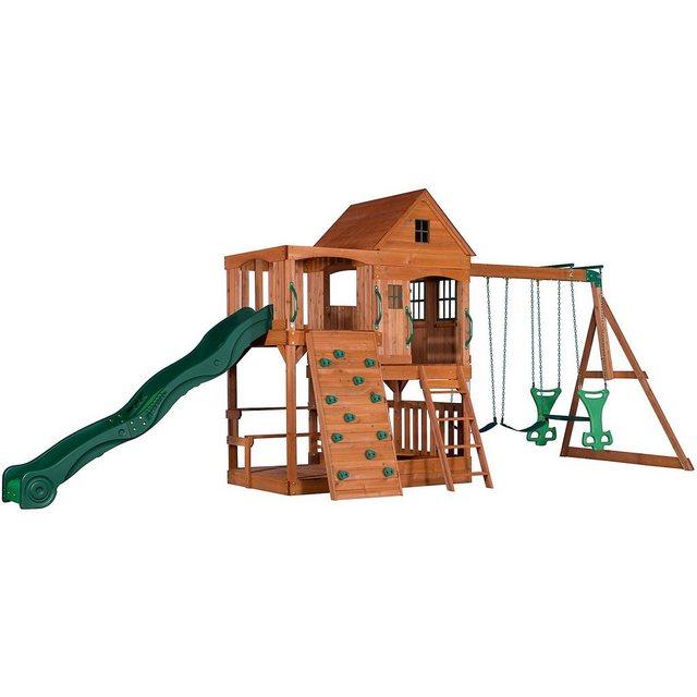 Empfehlung: Großer Spielturm mit Kletterwand & Schaukel-Set Hill Crest  von OTTO*