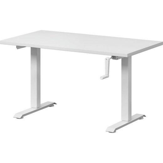 Wellemöbel Schreibtisch Grow Up, höhenverstellbarer, weiß / weiß