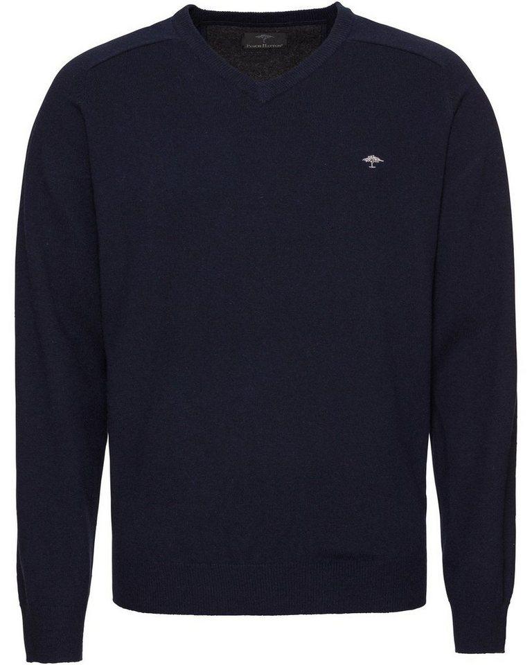 Herren FYNCH-HATTON V-Pullover blau | 04056513722119