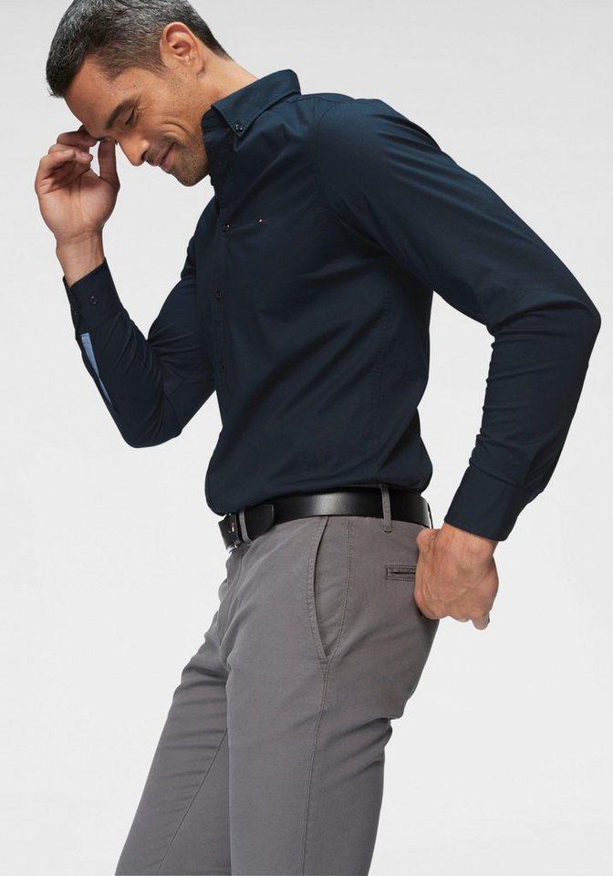 TOMMY HILFIGER Langarmhemd »CORE STRETCH SLIM POPLIN SHIRT« online ... 876581d280e