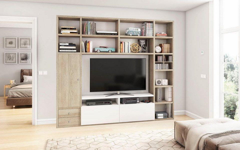 wohnwand toro 372 6 breite 251 cm online kaufen otto. Black Bedroom Furniture Sets. Home Design Ideas