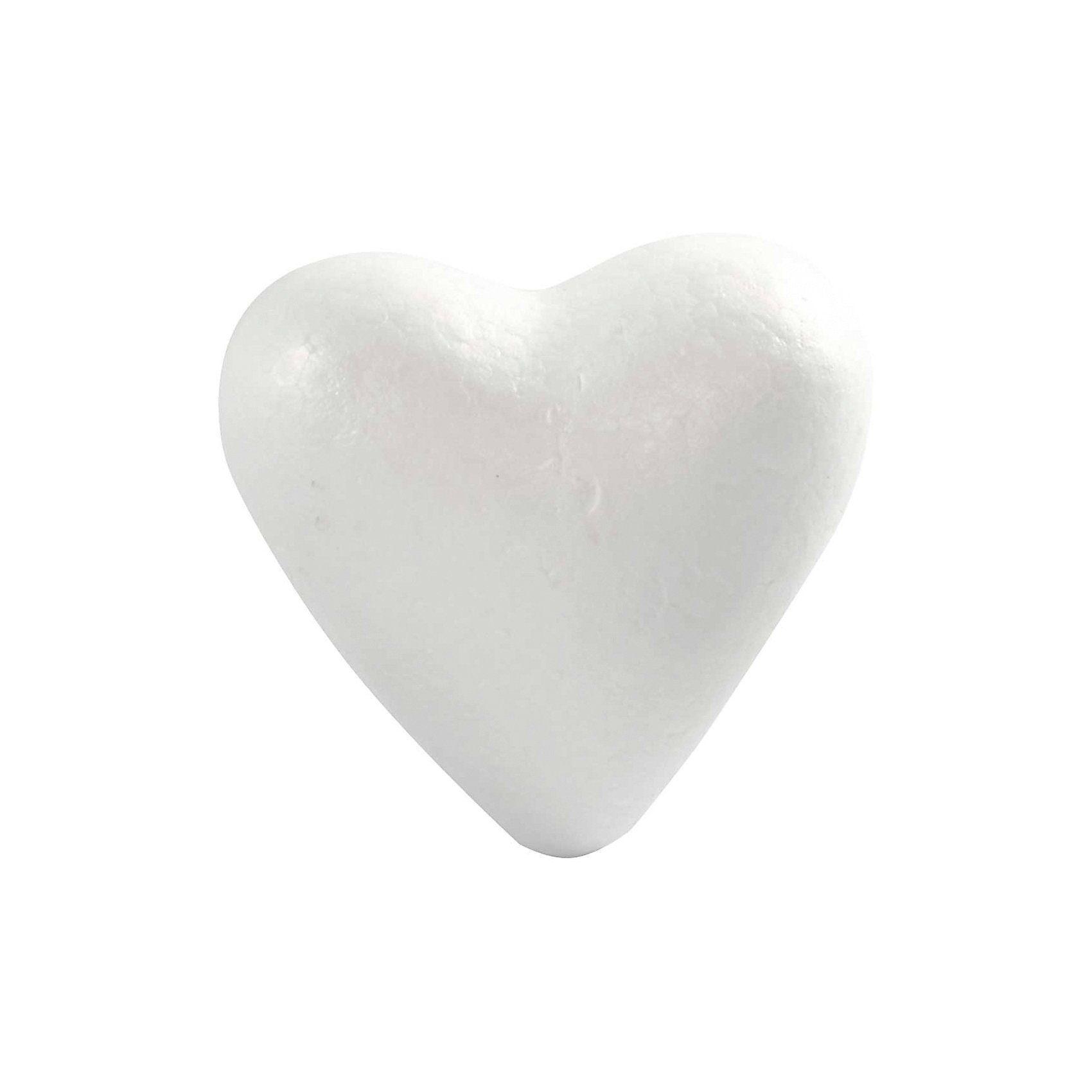 Styropor-Herz weiß, H 11 cm, 25 Stück