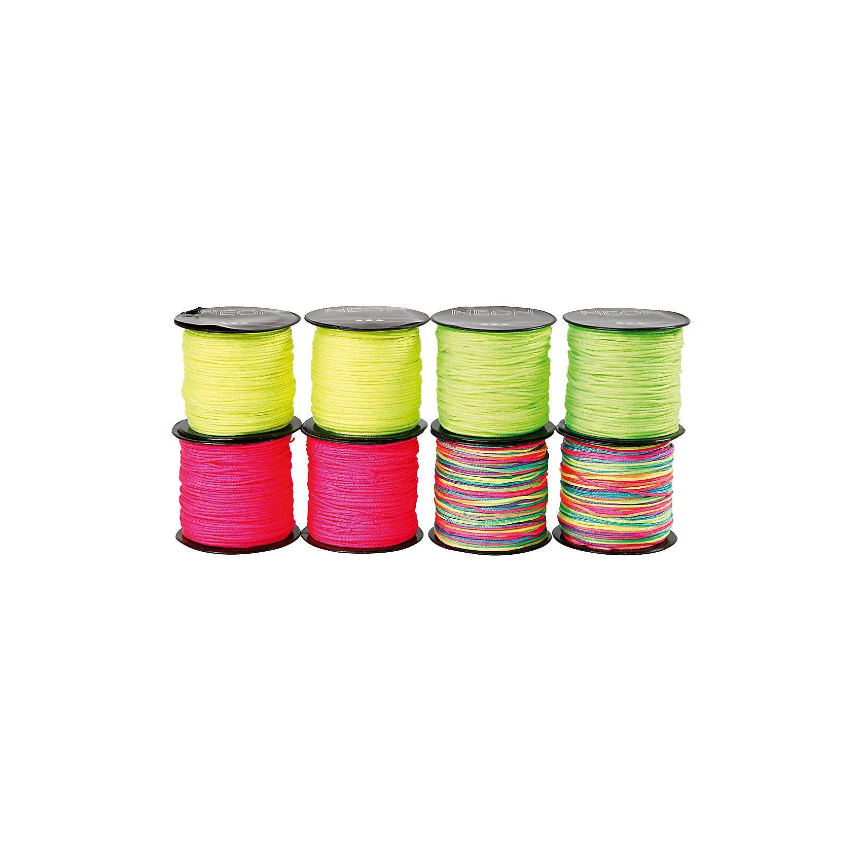 Nylonkordel - Sortiment, Stärke: 1 mm, 8x28 m, neonfarver