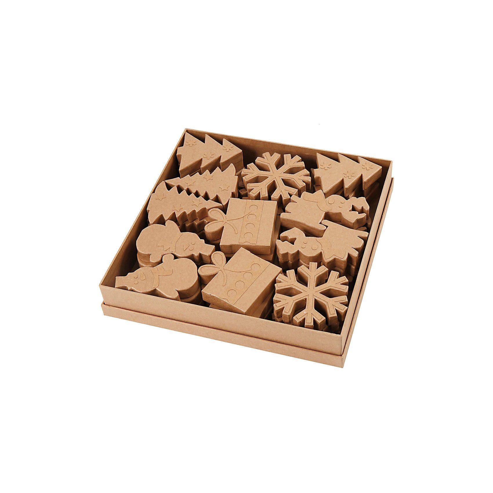 Weihnachts-Figuren, H 10-14 cm, 36 Stück