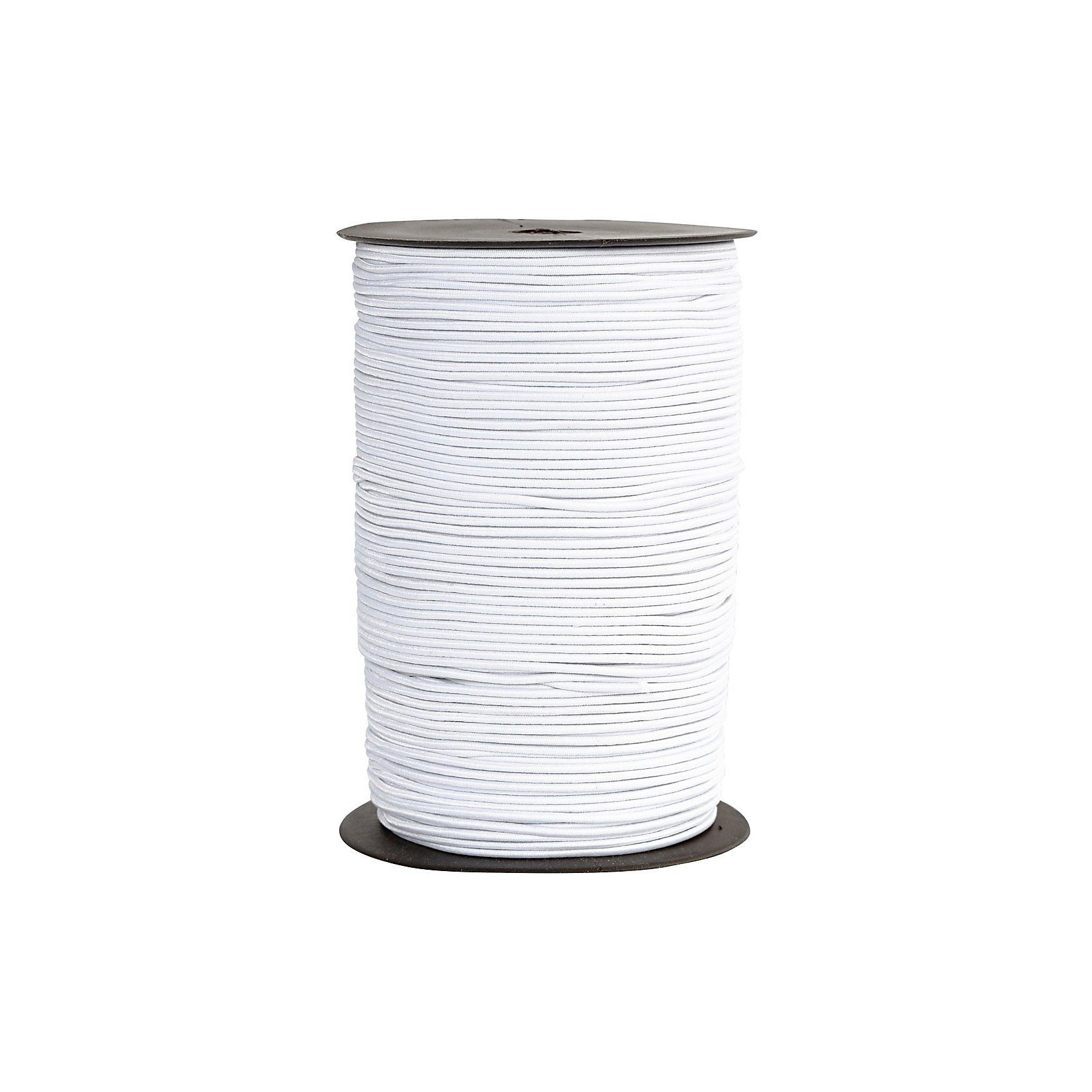 Elastikband, Stärke: 2 mm, 250 m, Weiß